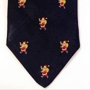 Brooks Brothers Makers Christmas Santa Navy Tie